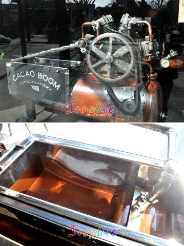 cacaoboom chocolat machine klein